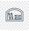 bookshelf concept linear icon isolated on vector image