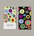 business card design abstract circles vector image vector image