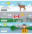 Canada Travel Horizontal Banners Set vector image vector image