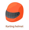 car helmet icon isometric 3d style vector image vector image