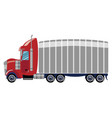 cartoon truck a trailer vector image