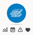 cash icon dollar money sign vector image