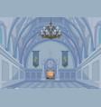 castle hall vector image vector image