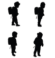 child set black silhouette vector image vector image