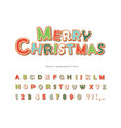 christmas gingerbread cookie font hand drawn vector image vector image