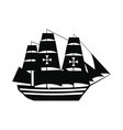 Columbus ship icon vector image vector image