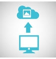 computer connected cloud image gallery vector image vector image