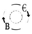 convert euro bitcoin symbol vector image