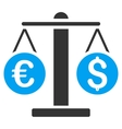 Currency Weight Flat Icon vector image vector image