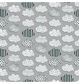 cute black and white cloud pattern vector image vector image