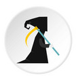 death with scythe icon circle vector image vector image