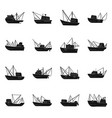 design shipping and yacht sign set of vector image