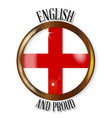 english proud flag button vector image
