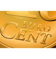Euro cent coin vector image
