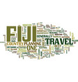 fiji travel text background word cloud concept vector image vector image