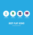flat icon window set of frame clean glazing and vector image vector image