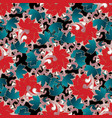 floral baroque style seamless pattern vector image