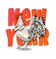 for the new year with a rooster vector image vector image