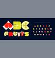 fresh fruit font for logo tropical fruity vector image vector image