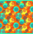 funky circles seamless pattern vector image vector image