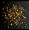 gold glittering star dust transparent glow vector image vector image