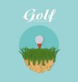 golf tournament cartoon vector image