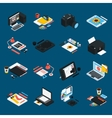 Graphic Design Isometric Icons vector image vector image