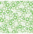 Green swirl pattern background vector image