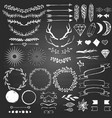 hand drawn decoratin elements on blackboard vector image vector image