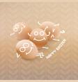 happy easter cartoon eggs vector image