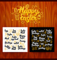 happy easter lettering postcards vector image vector image