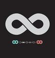 Infinity Symbol Set on Dark Background vector image