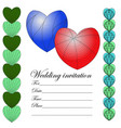 invitation for a wedding in the style of a zenart vector image vector image