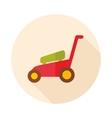 Lawn Mowers flat icon garden vector image