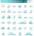 line set ships and boats vector image vector image