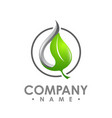 logo green leaf ecology nature element icon vector image vector image