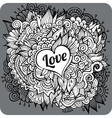 Love theme greeting card vector image vector image
