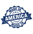 made in america round seal vector image vector image