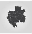 map gabon vector image vector image