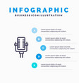 microphone multimedia record song blue vector image vector image