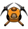 mine helmet logo vector image vector image