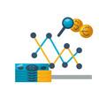 money chart exchange stock market vector image vector image