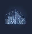 night city lights icon vector image vector image