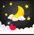 night time sky vector image vector image