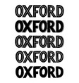 oxford city sans serif logo or typography for a vector image vector image