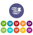 paper clip icons set color vector image
