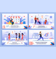 pregnant woman shopping activities banners vector image vector image