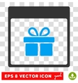 Present Box Calendar Page Eps Icon vector image vector image