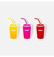 realistic design element soda vector image