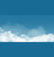 realistic white cumulus clouds on transparent vector image vector image